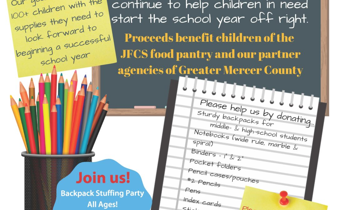 Back-To-School Backpack Drive is On!