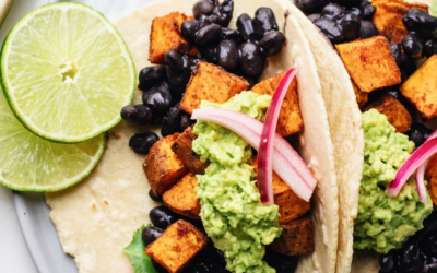 One Pan Chicken Tacos with Sweet Potatoes & Black Beans